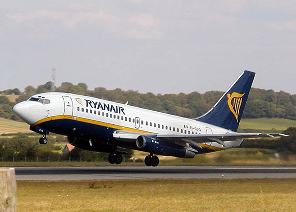 Ryanair in Calabria