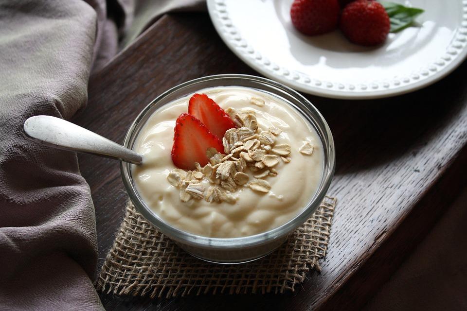 Yogurt con plastica